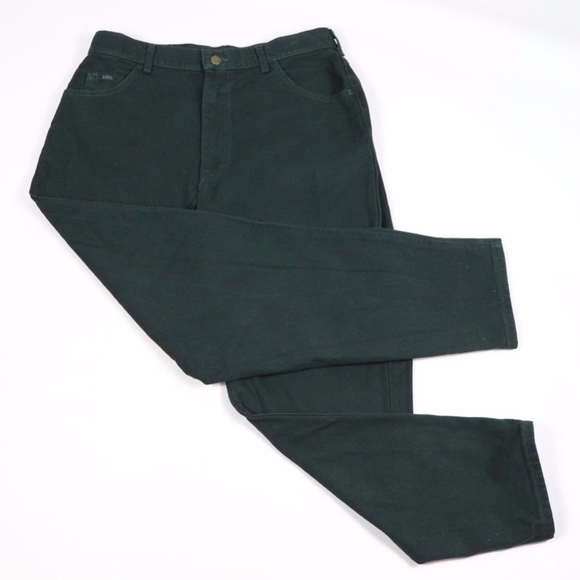 c3757f12d7 Lee Pants   New Riders Womens 16 P Relaxed Fit Green   Poshmark